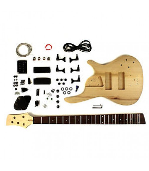 BASS - 5 String Body Style - DIY Unfinished Project Luthier Electric Guitar Kit!
