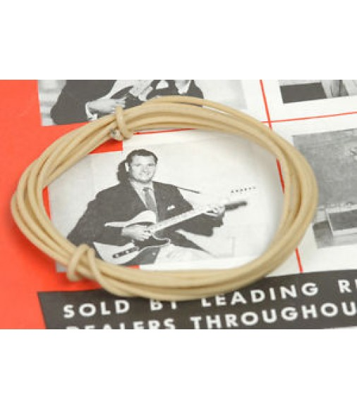 3 Ft White Vintage Waxed Cloth Insulated 22g Wire For Vintage ...