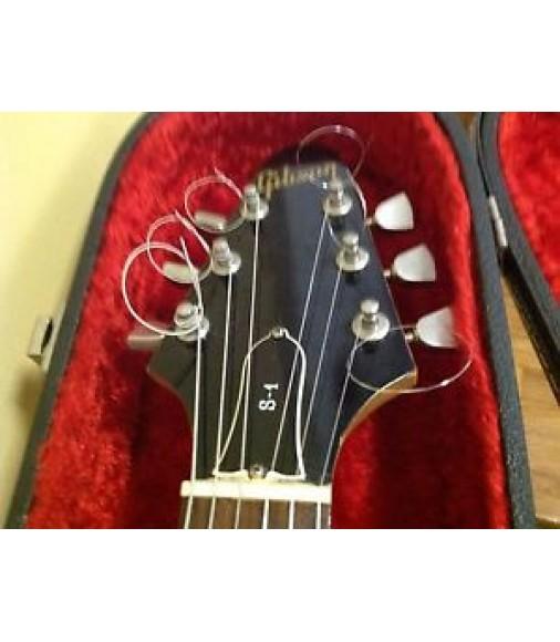 1974/1975 Black & Wood-Grain Cibson S-1 S1 Vintage Guitar w/ Cibson Case