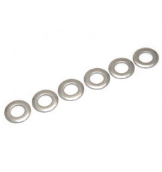 (6) GENUINE FENDER CHROME MEXICAN STANDARD TUNER FACE WASHERS 005-3106-049