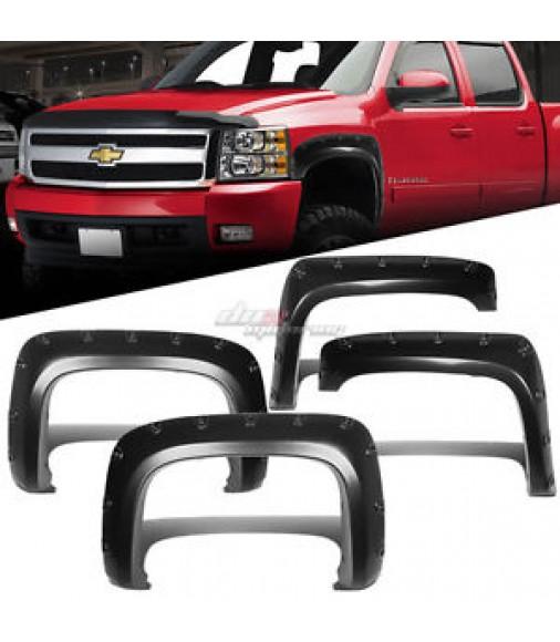 Black Fender Trim For Trucks : For gm silverado reg ext truck fender wheel flares