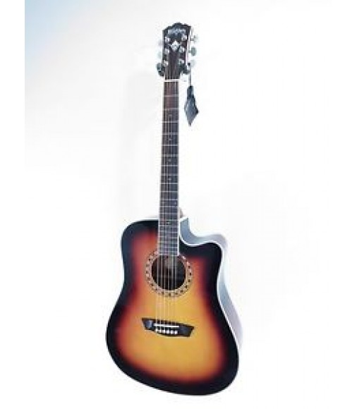 Washburn WD10SCE/ATB - Solid Top Acoustic/Electric Dreadnought Guitar Blem #659