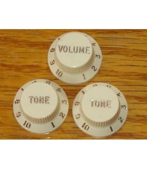 Vintage 50s RI Fender Stratocaster Strat GUITAR KNOBS Control Volume Tone