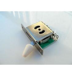 Blanco extremos 5 vías Interruptor para Fender Stratocaster Strat/Telecaster