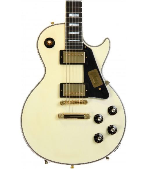 Classic Vintage White  Cibson Custom 1974 C-Les-paul Custom Reissue VOS