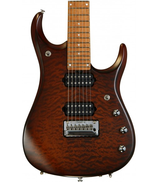 Sahara Burst, Quilt Maple Top  Ernie Ball Music Man JP15 7