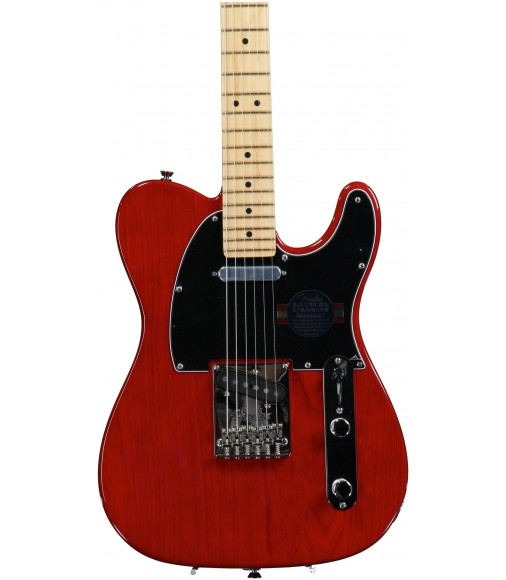 Crimson Red Transparent, Ash Body  Fender American Standard Telecaster, Maple