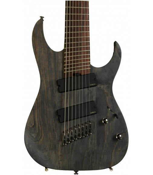 Black Stained  Ibanez Iron Label RGIF8 Fanned Fret