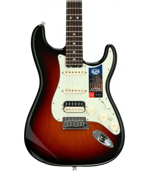 3-color Sunburst  Fender American Elite Stratocaster HSS, Rosewood