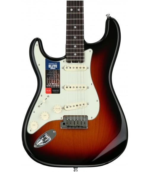 3-Tone Sunburst  Fender American Elite Stratocaster, Rosewood, Left-handed
