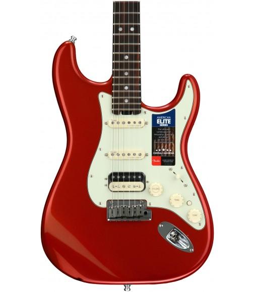 Autumn Blaze Metallic  Fender American Elite Stratocaster HSS, Rosewood