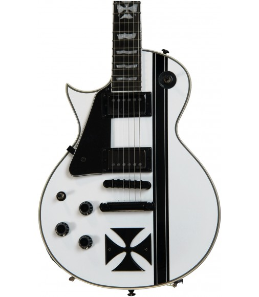 Snow White  ESP LTD Iron Cross James Hetfied Left-Handed