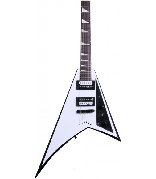 White with Black Bevels  Jackson JS32T Rhoads