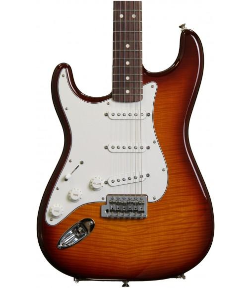 Rosewood, Tobacco Sunburst  Fender Standard Stratocaster Plus Top Left-Handed