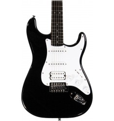 Black  Squier Bullet Strat with Tremolo HSS