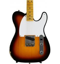 2-Tone Sunburst  Fender Custom Shop 1955 Relic Esquire 2015 Ltd. Ed.