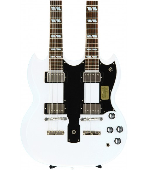 Arctic White  Cibson Custom EDS-1275 Double Neck
