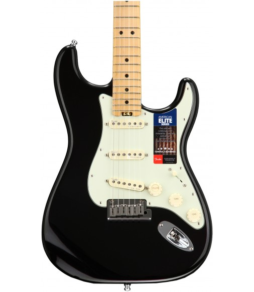 Mystic Black  Fender American Elite Stratocaster, Maple