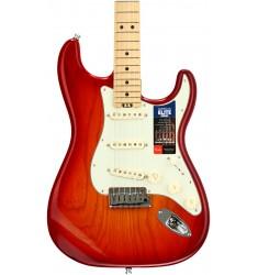 Aged Cherry Burst, Ash Body  Fender American Elite Stratocaster, Maple