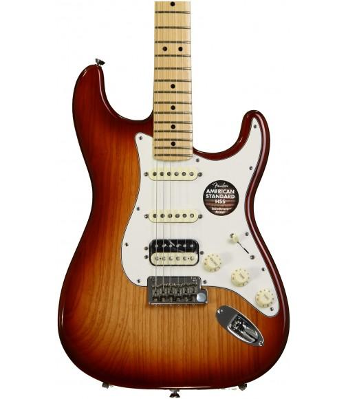 Sienna Sunburst, Maple  Fender American Standard Stratocaster HSS Shawbucker