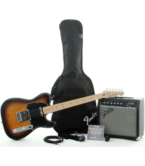 Brown Sunburst   Squier Affinity Tele Pack with Frontman 15G Amplifier
