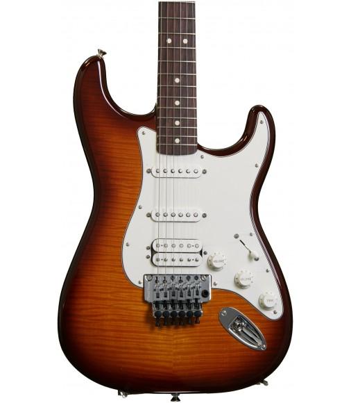 Tobacco Sunburst  Fender Standard Stratocaster HSS Plus Top with Locking Tremolo