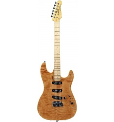 Natural Flame, Maple FB  Godin Passion RG-3