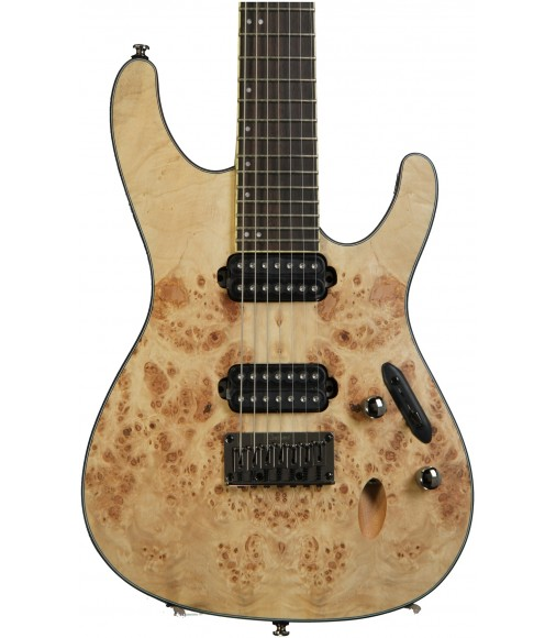 Natural Flat, 7-String  Ibanez S7721PB