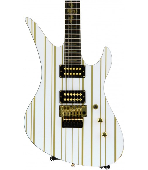 White/Gold Stripes  Schecter Synyster Gates Standard