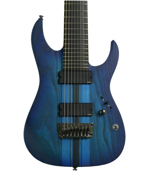Sapphire Blue Flat, 8-string  Ibanez RGIT28FE Iron Label