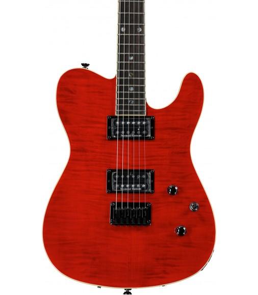 Red Trans  Fender Custom Telecaster FMT HH