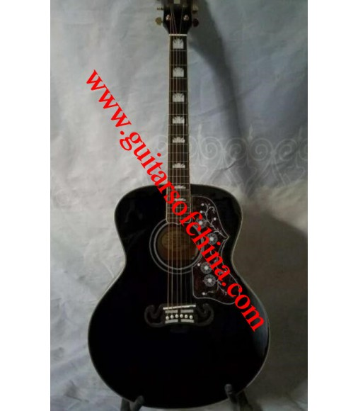 Chibson j 200 acoustic guitar all solid wood-black