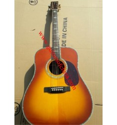 Martin D-45 dreadnought acoustic guitar cherry sunburst