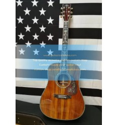 Custom Martin D45 KOA Solid Guitar Fancy Abalone Inlay