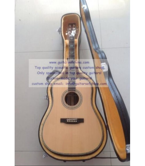 Solid Wood Hand Made Custom D45 Martin Guitar For Sale