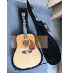 Custom Best Acoustic Martin D-45 Vine Inlays Acoustic Guitar(Top quality)