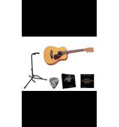 Yamaha Beginner 3/4 Size Folk Guitar Bundle Natural