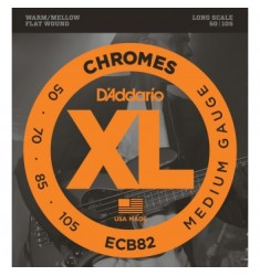 D'Addario ECB82 Chromes Bass Strings, Medium, 50-105, Long Scale