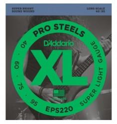 D'Addario EPS220 ProSteels Bass Strings, Super Light, 40-95