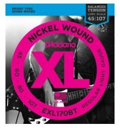 D'Addario EXL170BT Nickel Wound Strings Balanced Tension Light 45-107