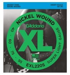 D'Addario EXL220S Bass Guitar Strings Super Light 40-95 Short  Scale