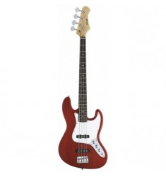 Eastcoast B300 J Bass Electric Bass Guitar in Trans Red