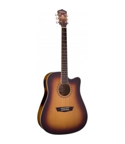 Washburn Cutaway Electro-acoustic Guitar Matt Antique Tobacco Burst