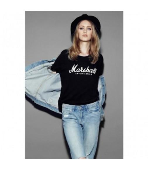 Marshall Standard T-shirtScript Logo Graphic - Women's Large