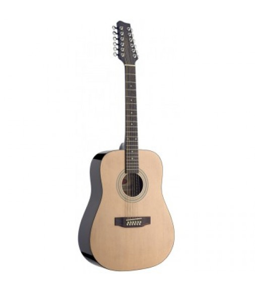 Eastcoast 12-String Acoustic Guitar in Natural Finish