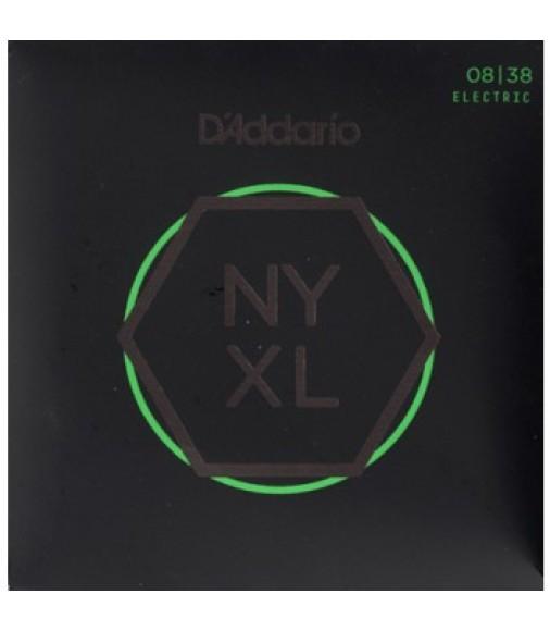 D'Addario NYXL0838 Guitar Strings, Extra Super Light, 8-38