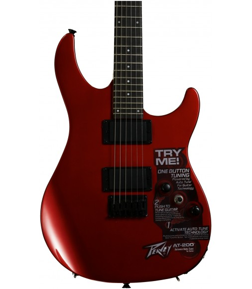 Red  Peavey AT-200 Auto-Tune Guitar